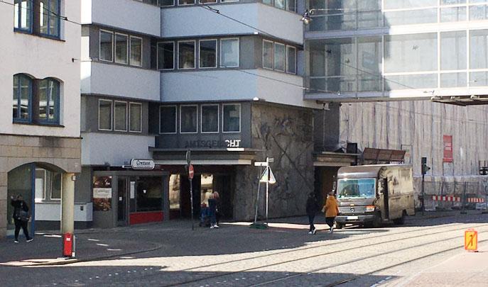 Foto vom Amtsgericht, Eingang