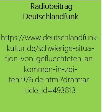 grün hinterlegter Link zu einem Radiobeitrag