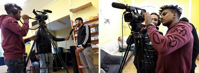 Kamera- und Interviewtraining