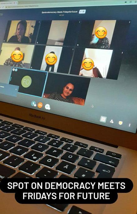 Online Treffen mit Fridays for Future