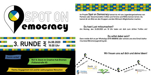 Flyer 3. Treffen Spot on Democracy