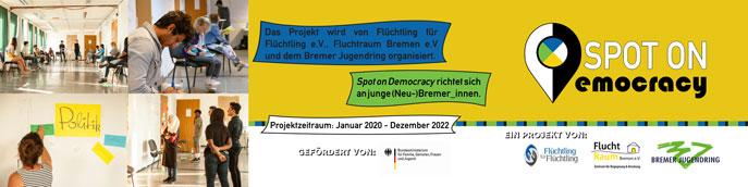 """Flyer """"Spot on Democracy"""" Vorderseite"""