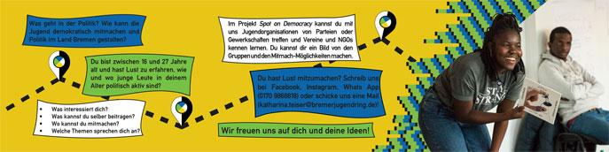 """Flyer """"Spot on Democracy"""" Rückseite"""