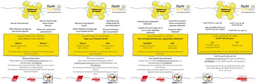 Flyer Tipps zu Deutschlernen