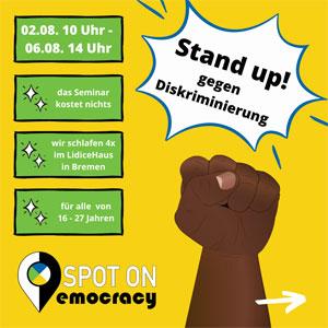 Sharepic zum Seminar: Stand up! gegen Diskriminierung