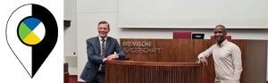 Mohamad Bah und Frank Imhoff in der Bremer Bürgerschaft